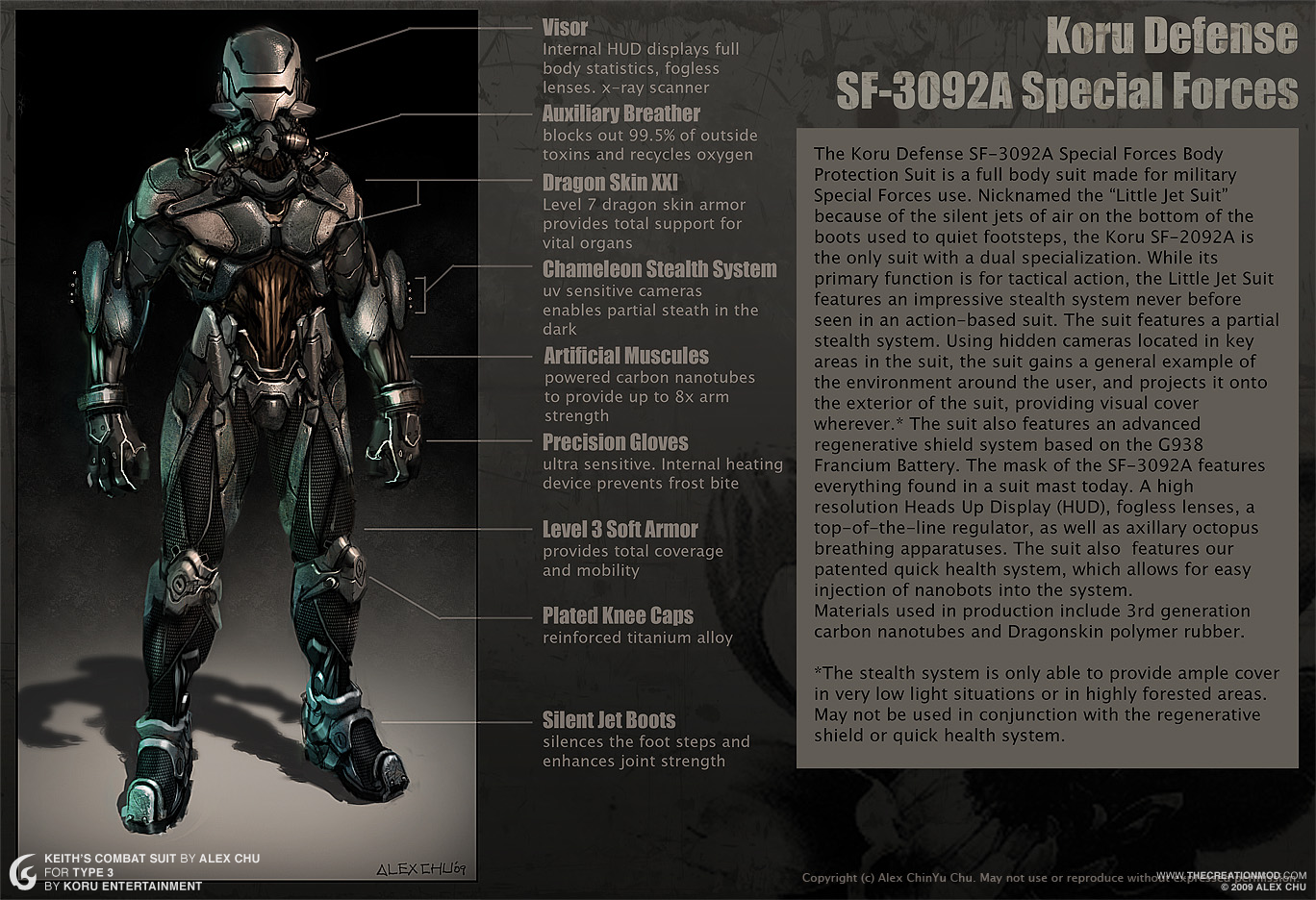 keith s combat suit concept image   type 3   indie db