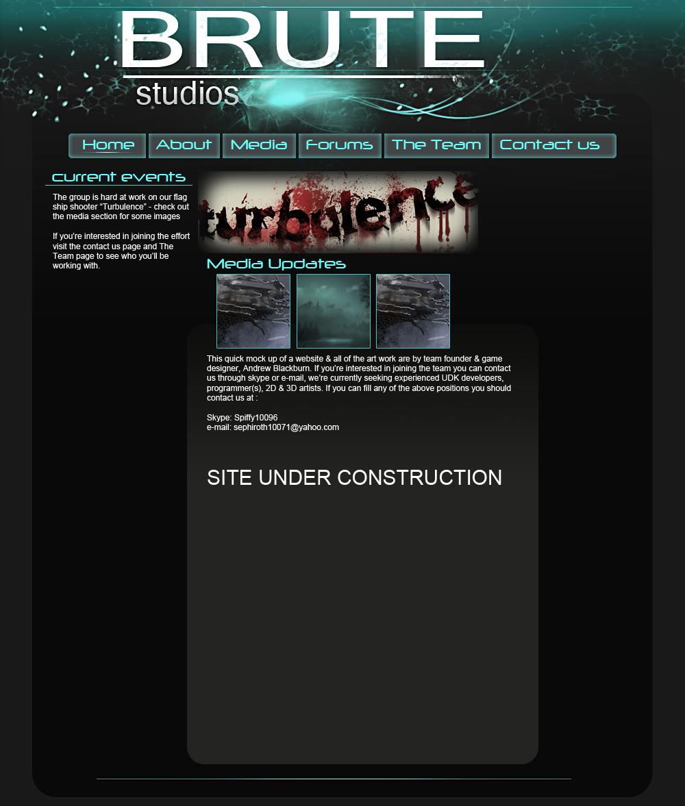 Brute studios web design image - Turbulence - Indie DB