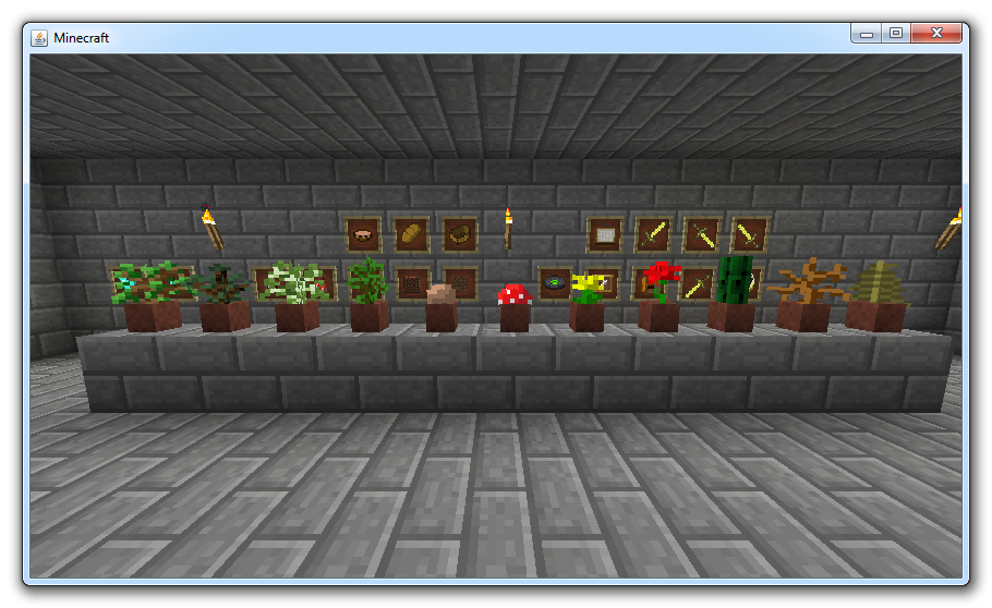 Flower Pots and Item Frames image - Minecraft - Indie DB