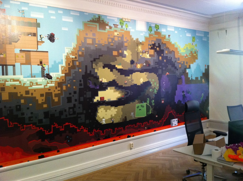 Mojang office poster fan art show your creation for Build a bedroom online