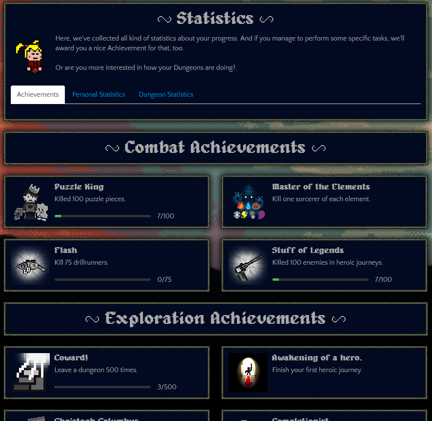 Look at all these achievements!