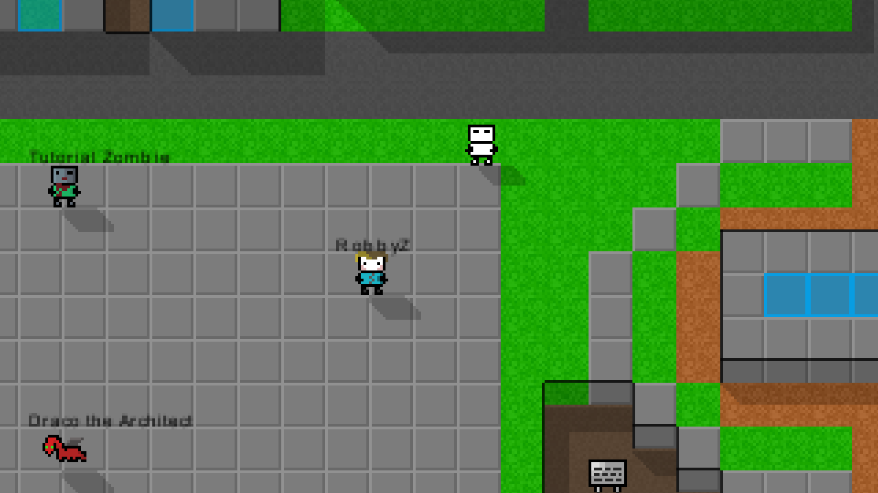 NPCs to talk to and get quests from! image - 8BitMMO - Indie DB