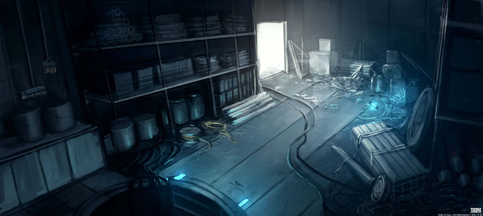 sci fi room concept art room concept ffow picture 2d illustration