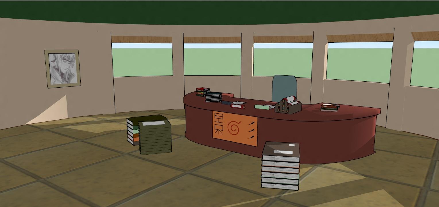 Hokage Room Office Finish Image Naruto Konoha Life