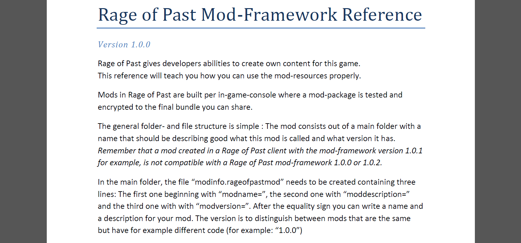 Mod-Reference preview