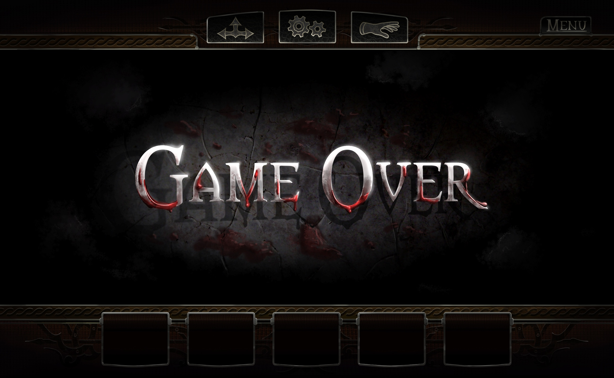 Game over screen image castle dracula indie db