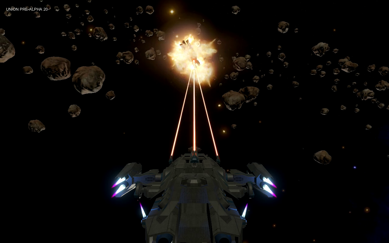 A Kite class frigate exploding