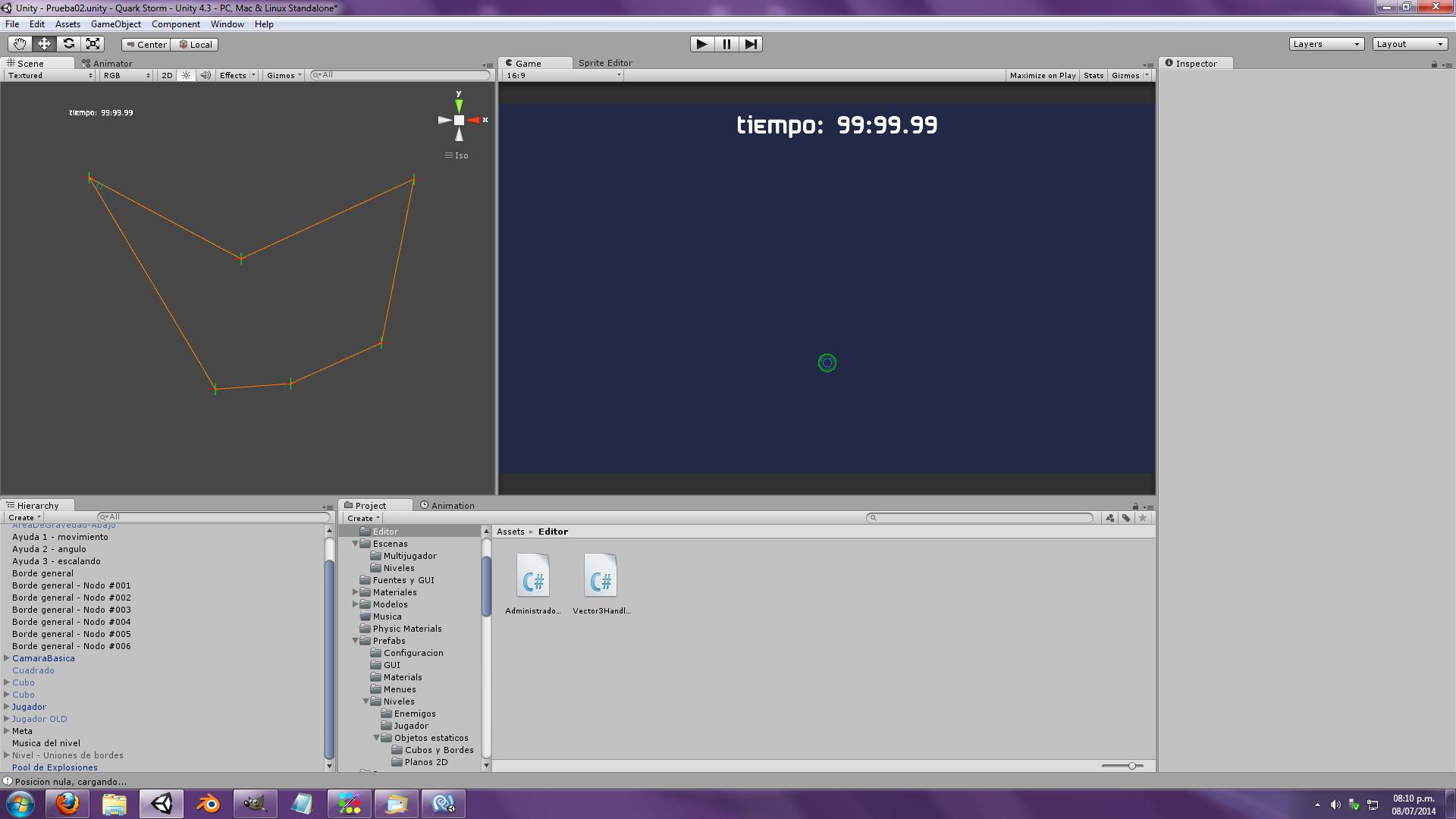 Quark Storm update screenshot - Bezier curve system 01