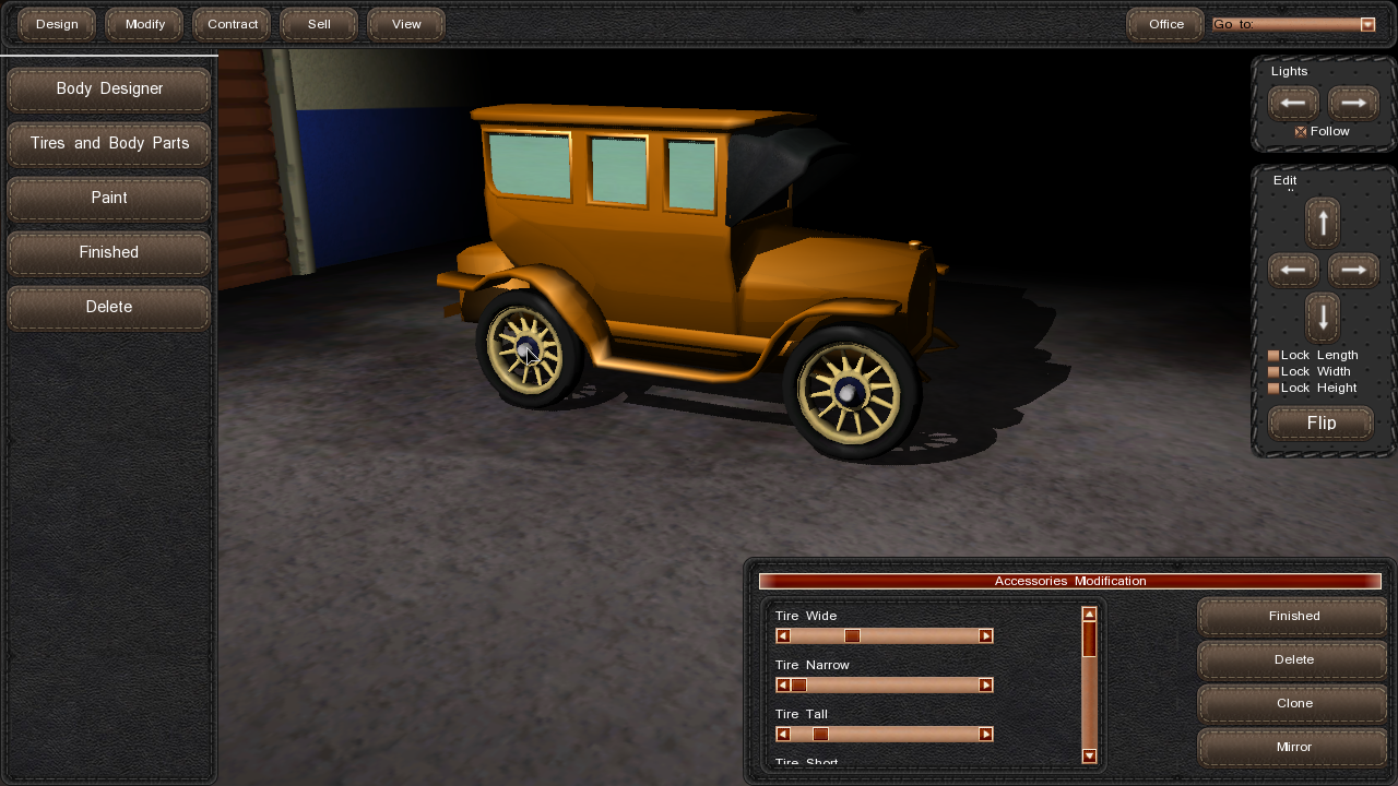 Build A Car Game >> 1900s Car Designer image - GearCity - Indie DB