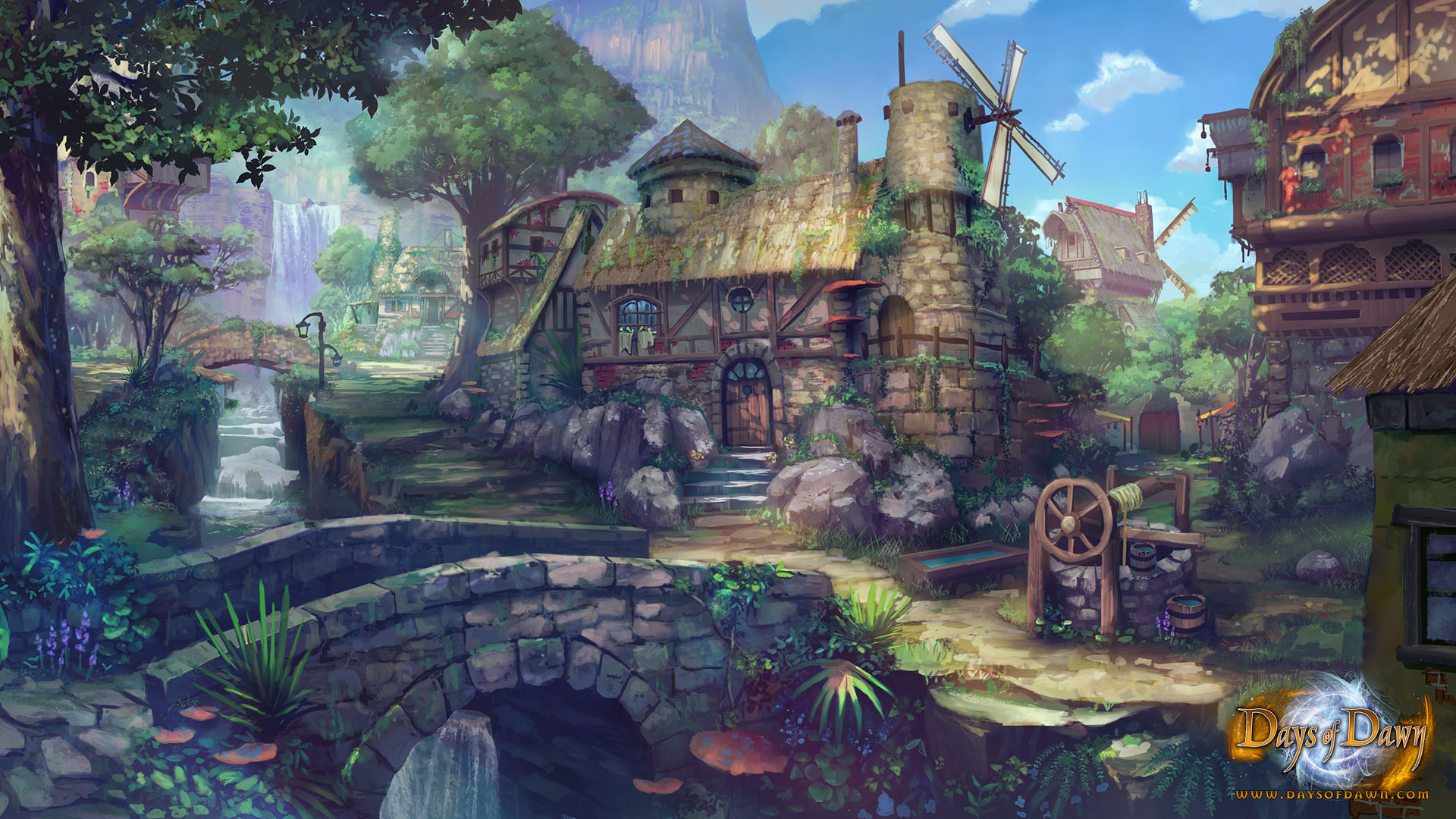 Town concept art for days of dawn image indie db - Art village wallpaper ...