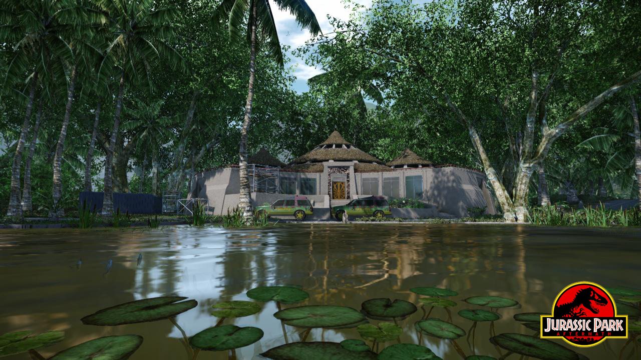 Jurassic Park Visitor Centre Exterior Front Image Indie Db