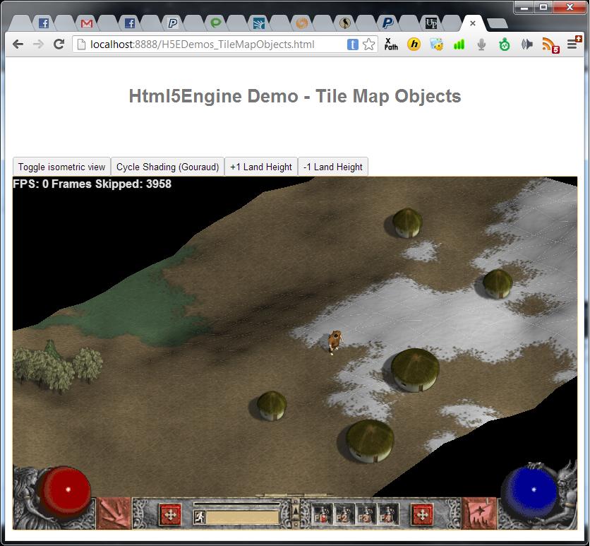 Isometric HTML5 Graphics Test