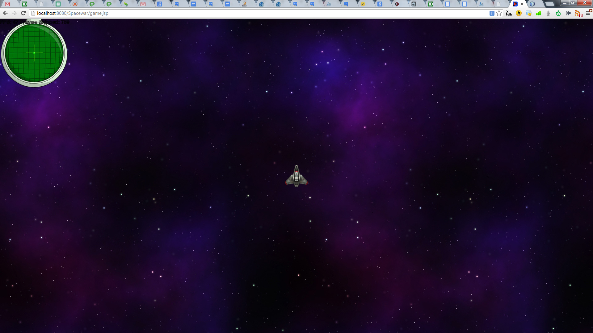 Spacewar HTML5 Graphics Test