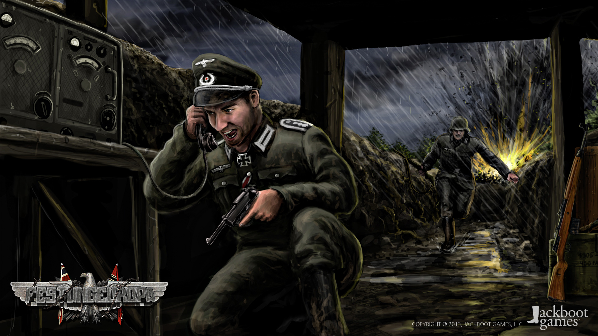 german officer concept art image festung europa indie db