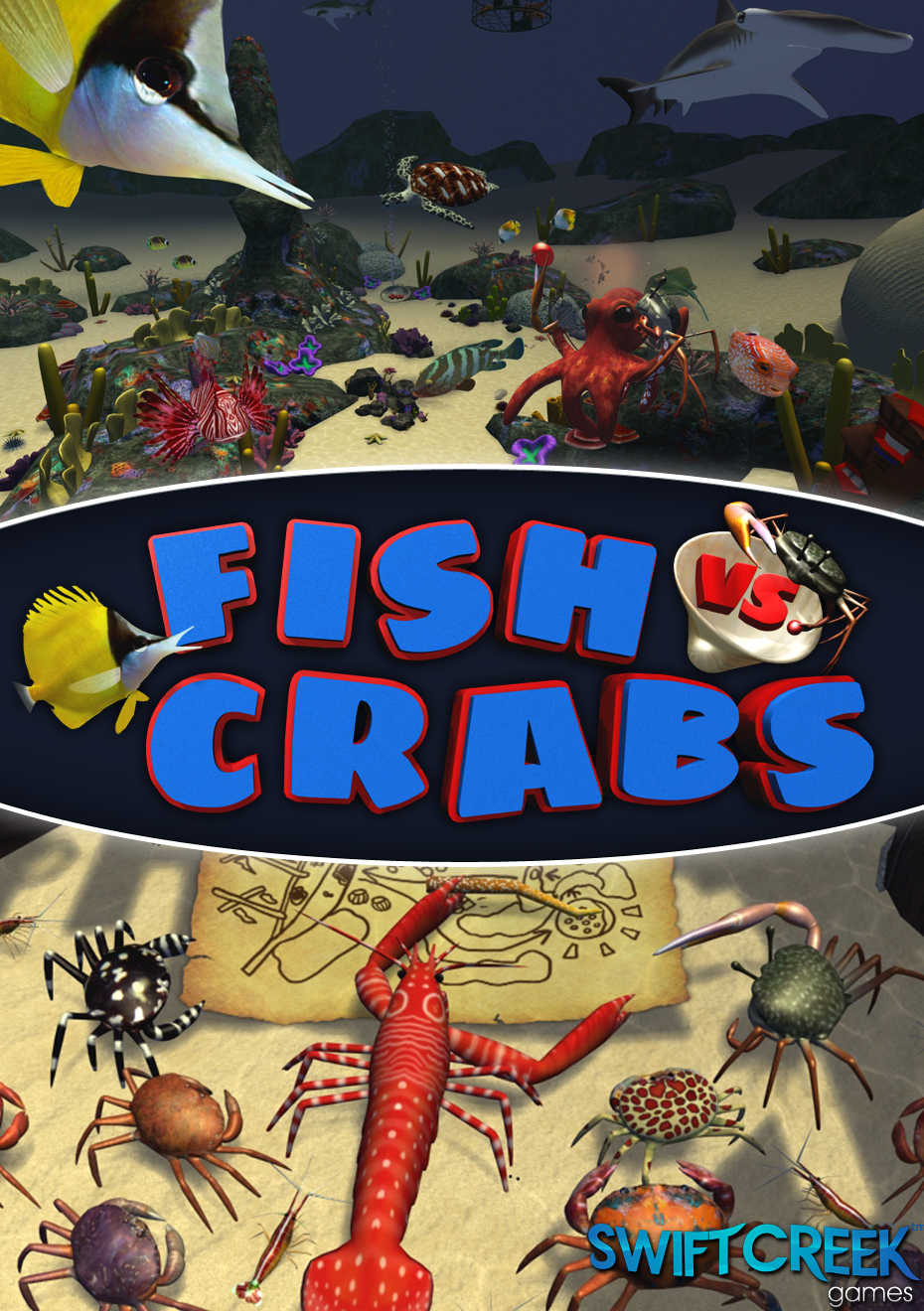 Fish vs crabs windows linux web mobile ios ipad for Crab fishing game