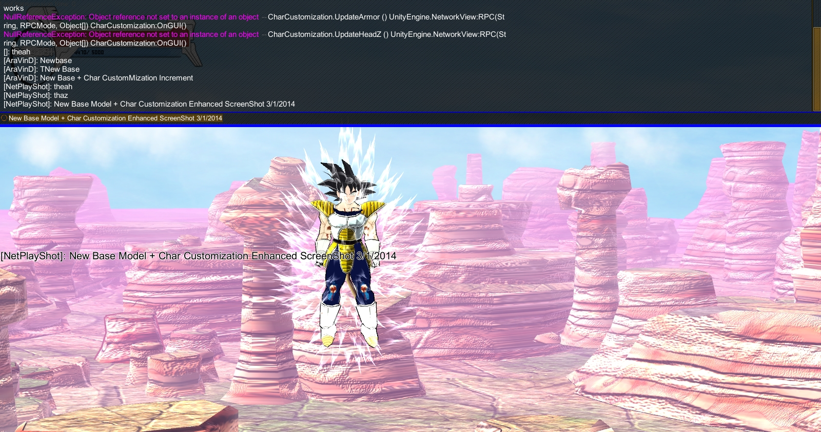 Combo Update: Dev Console and Char Customization image - Z