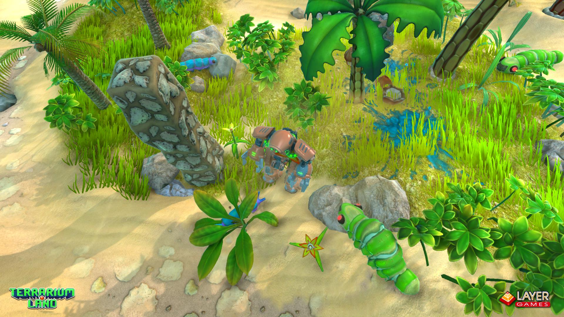 Terrarium Land level. Valley