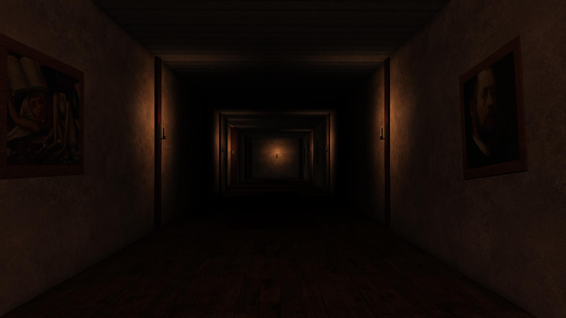 Dark Corridor image - Wooden Floor