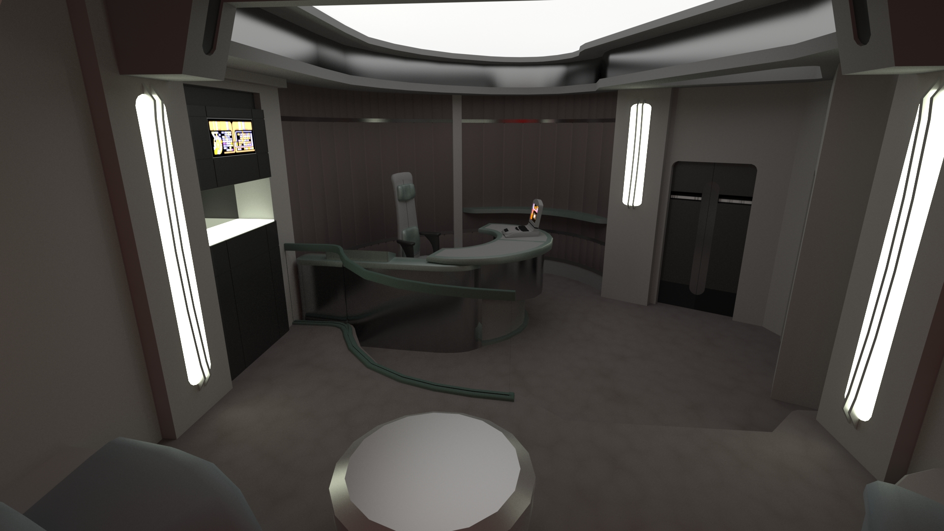 Ready Room WIP Image Star Trek Voyager Game Project