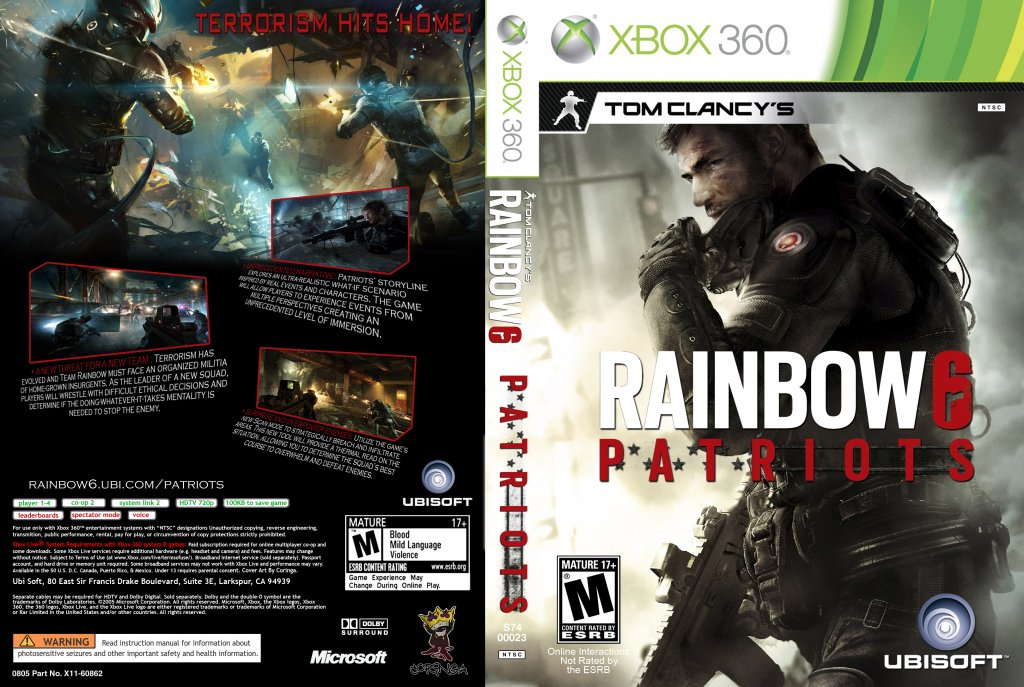 Tom Clancy Games For Ps4 : Tom clancy s rainbow six patriots windows xone ps