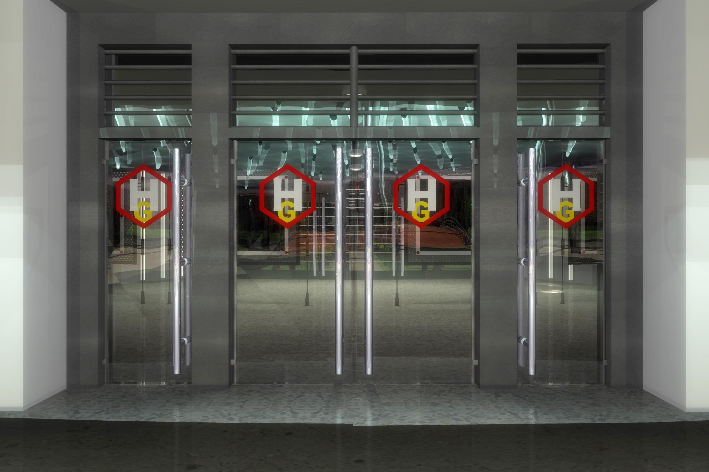 Rear Entry Doors Of Rhg R D Facility Image Megatokyo 2041 Indie Db