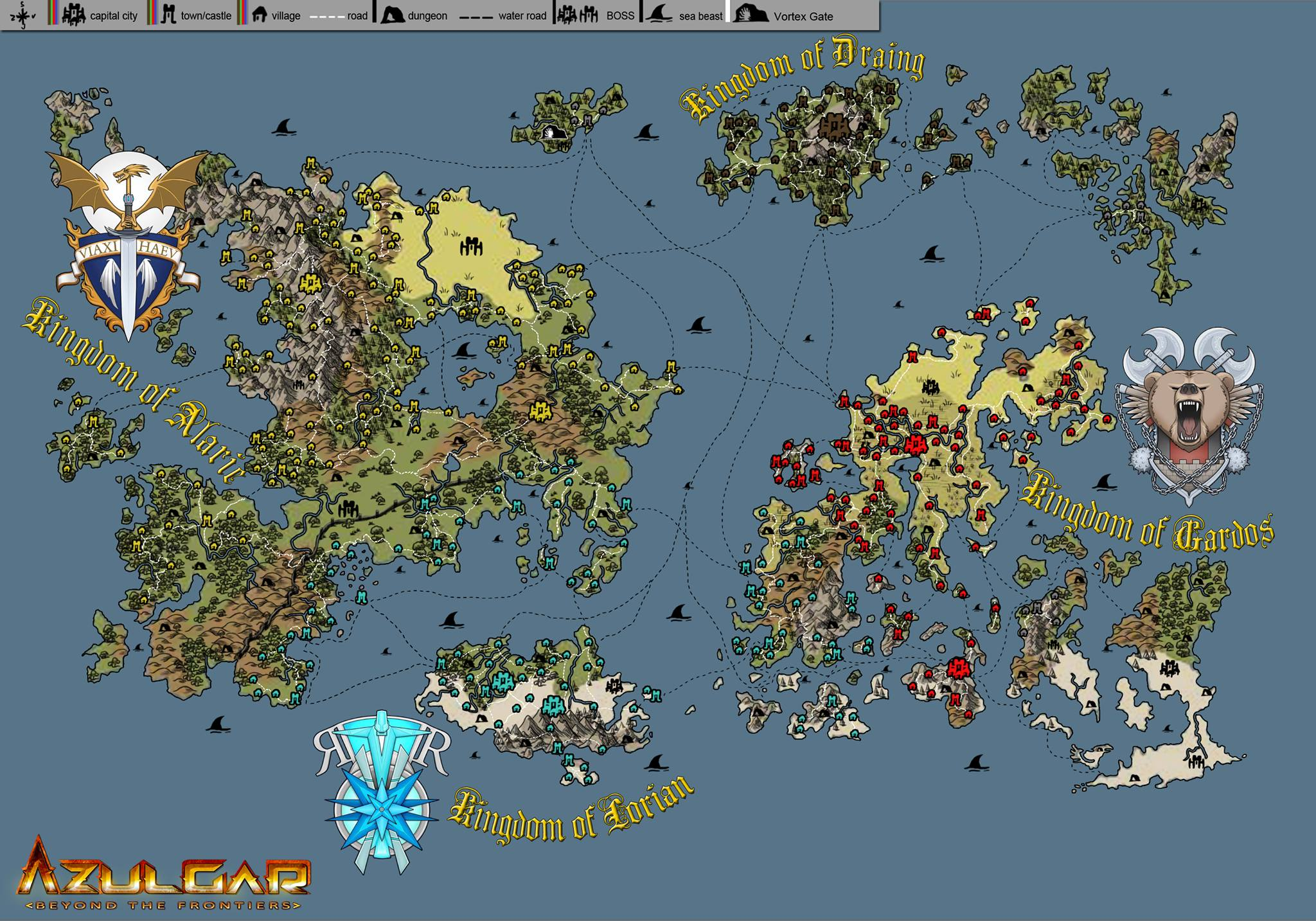 World map image   Azulgar: Beyond the Frontiers   Indie DB