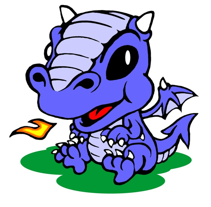 Blue Baby Dragon Pet