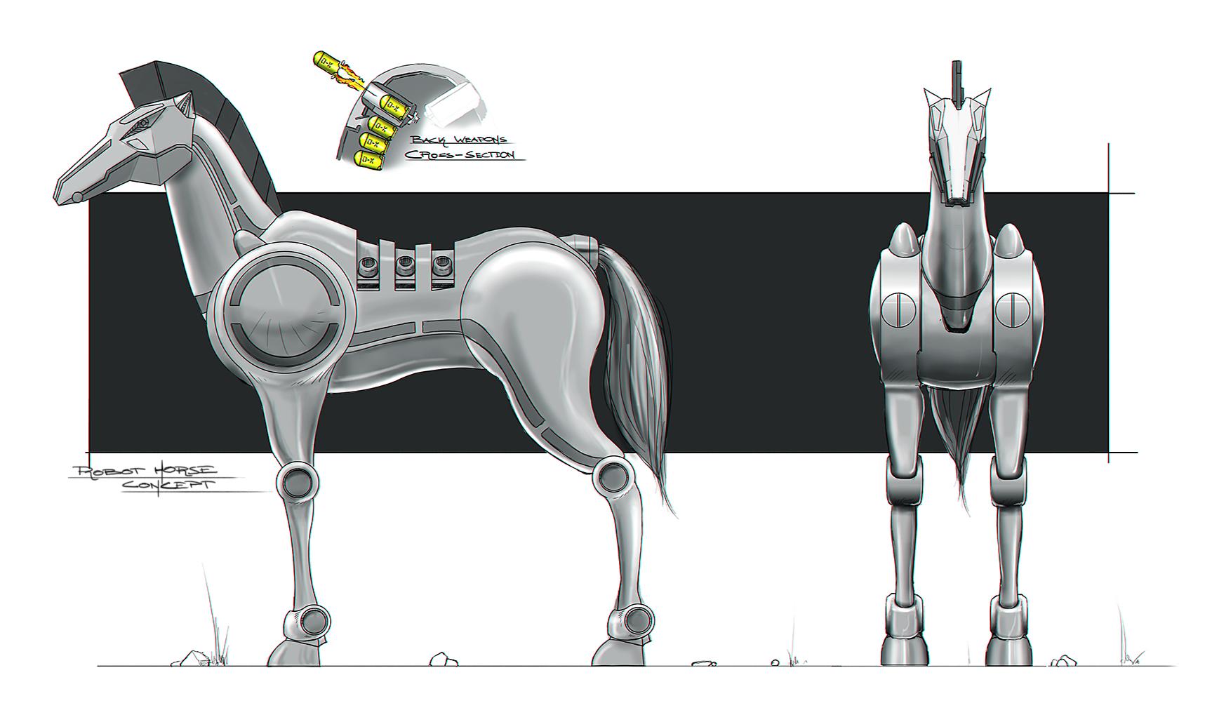 Deviantarts Robot Horse: Robot Horse Concept Art Image