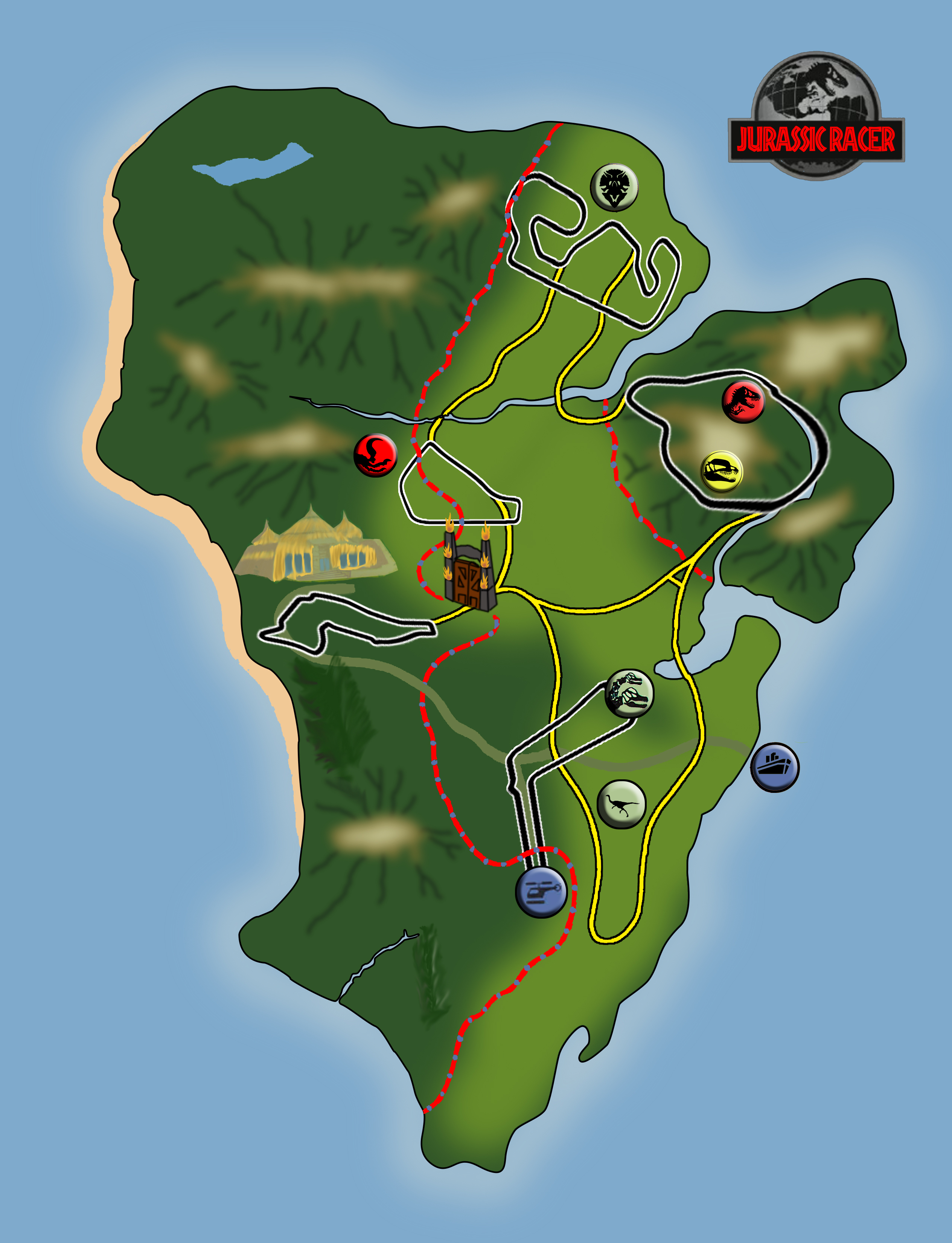 Jurassic Park Map Image Indie Db