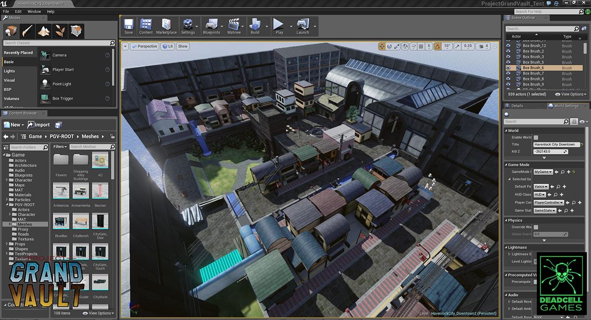 Havenlock City - UE4 image - Project Grand Vault - Indie DB