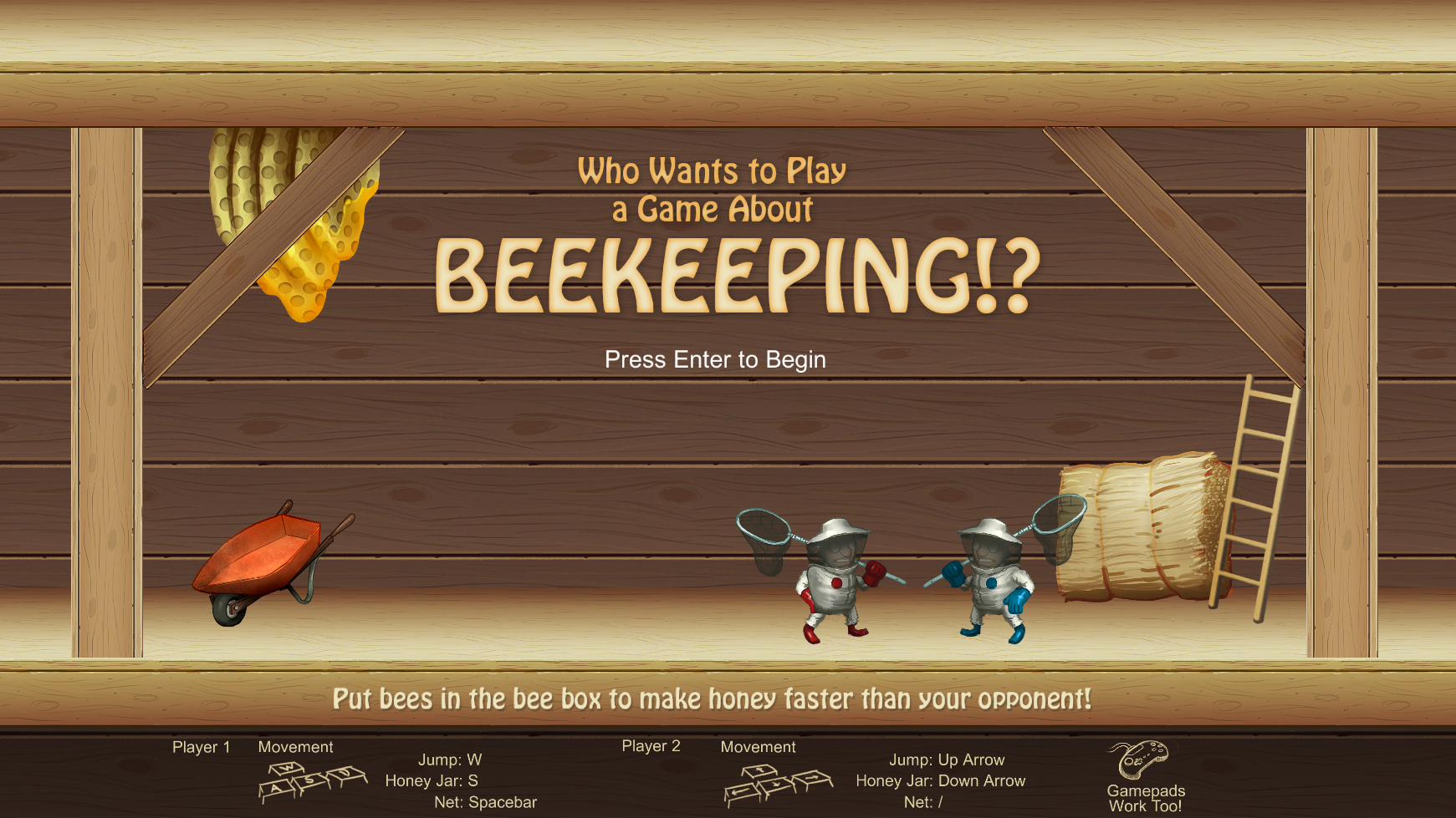 Who Wants to Play a Game about Beekeeping!? Windows, Mac, Linux