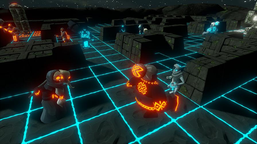 Screenshot with shaman and couple minions