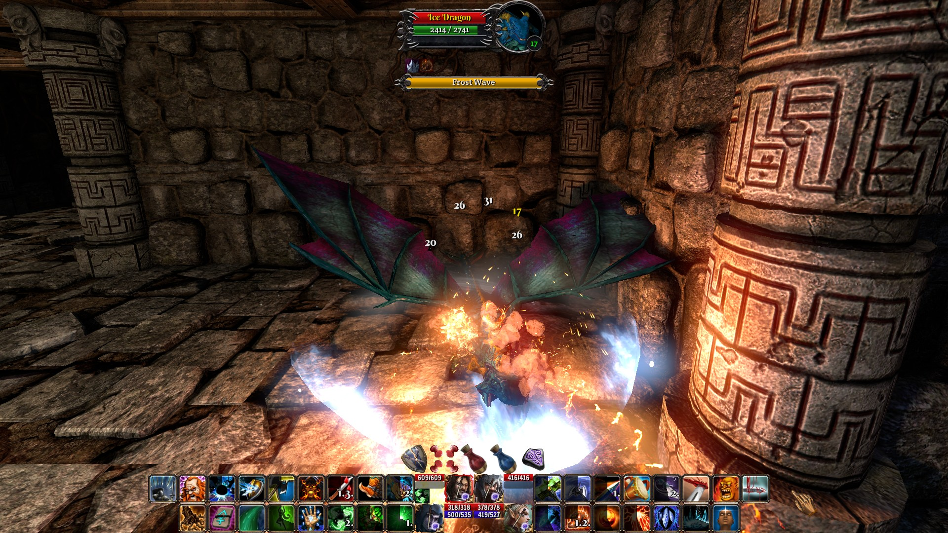 Ice Dragon image - The Fall of the Dungeon Guardians - Indie DB