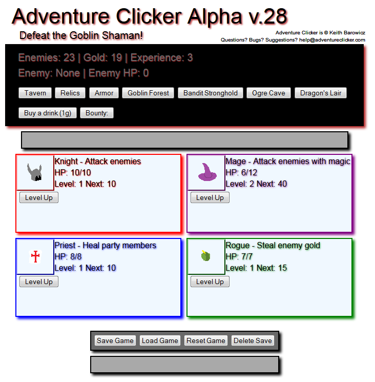 Adventure Clicker