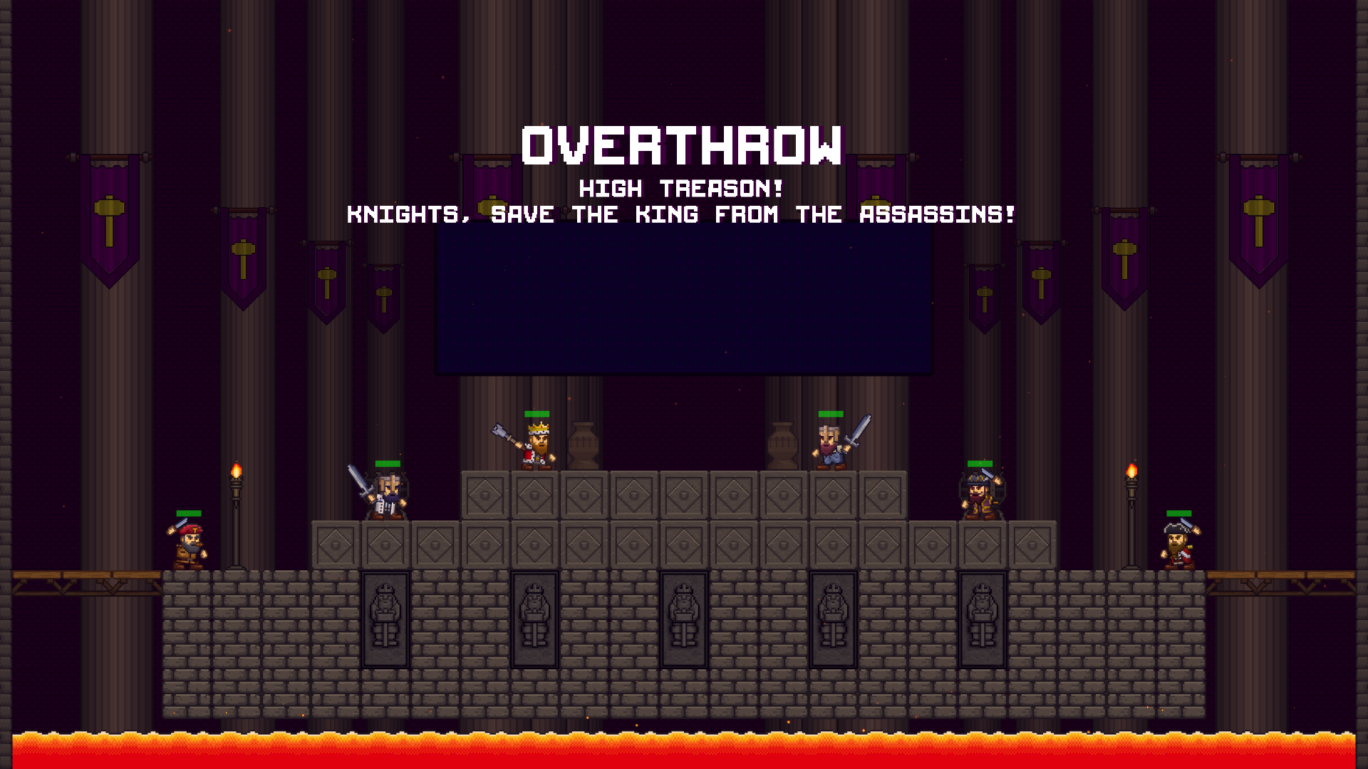 Overthrow game mode for 6 players