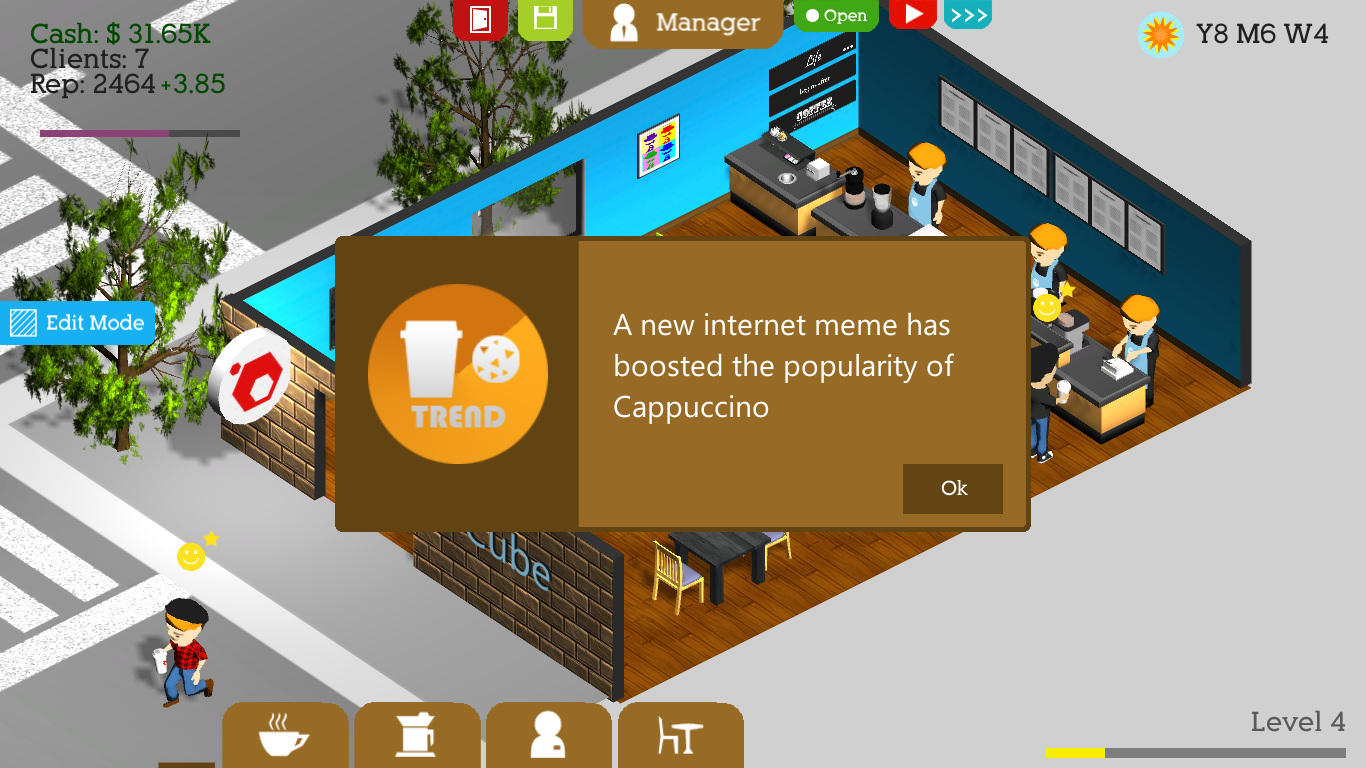 Coffee shop tycoon online
