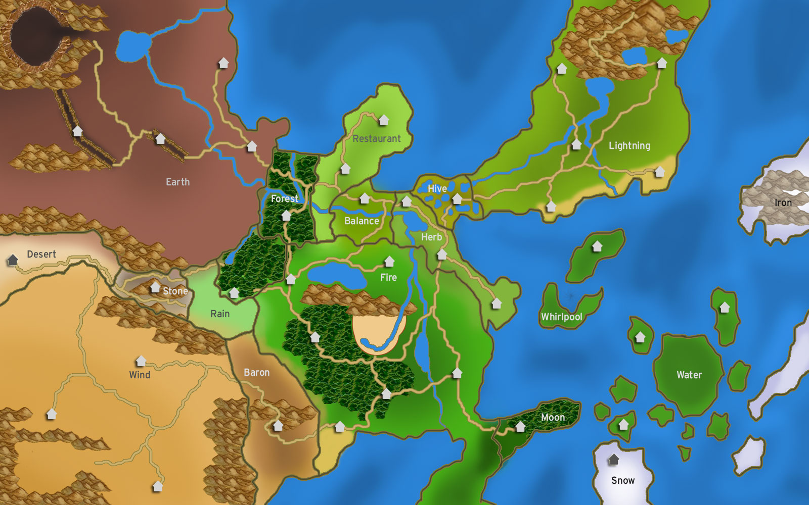 Our Map :) image - JutsuOnline- A Naruto MMORPG (Release ...