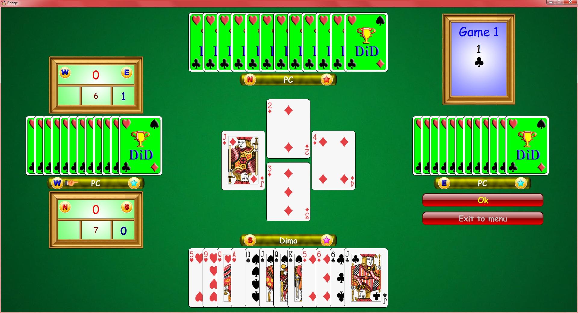 free bridge games against the computer