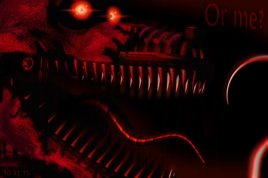 Nightmare Foxy (FNAF 4) Minecraft Skin