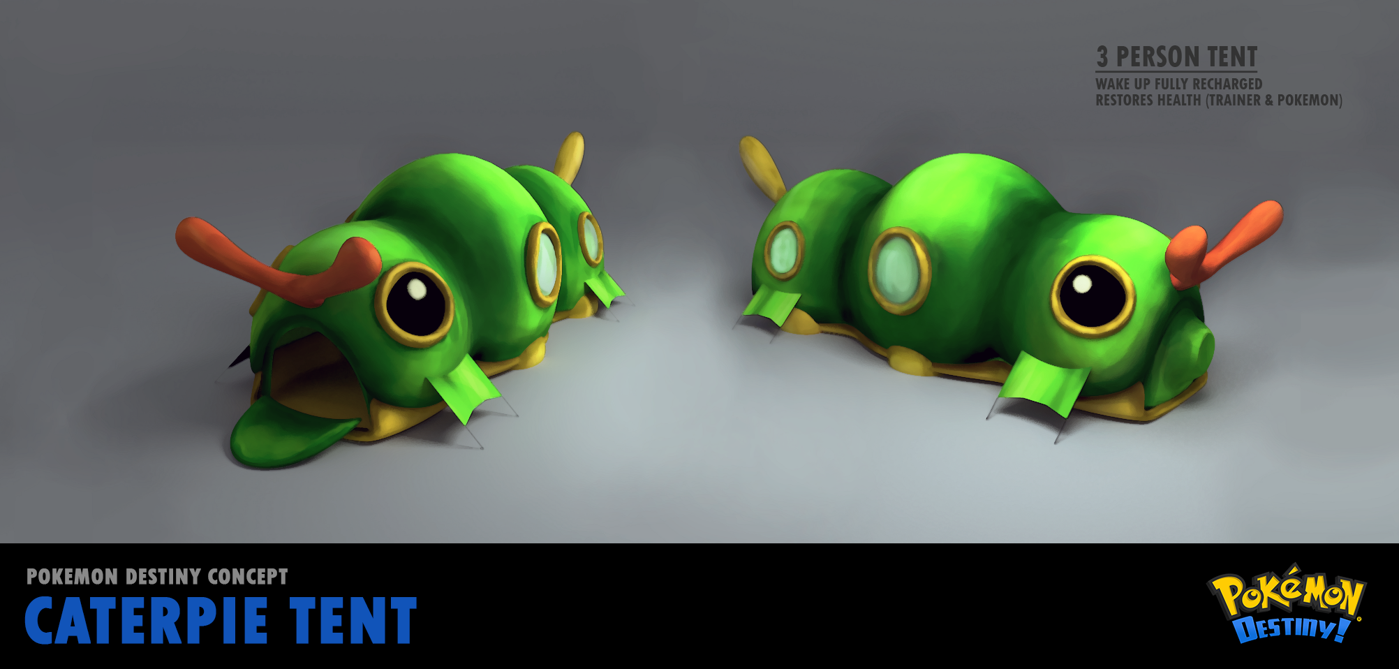 Add media Report RSS Caterpie Tent Concept (view original) & Caterpie Tent Concept image - Pokémon Destiny - Indie DB