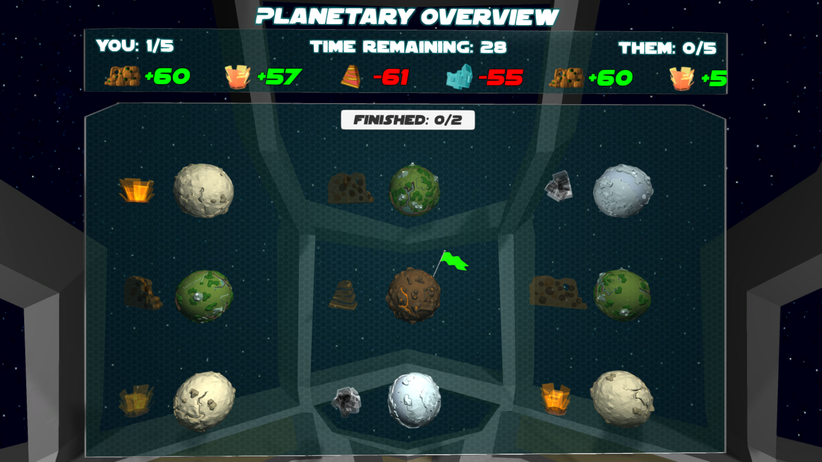 Planetary Overview with 1 planet owned