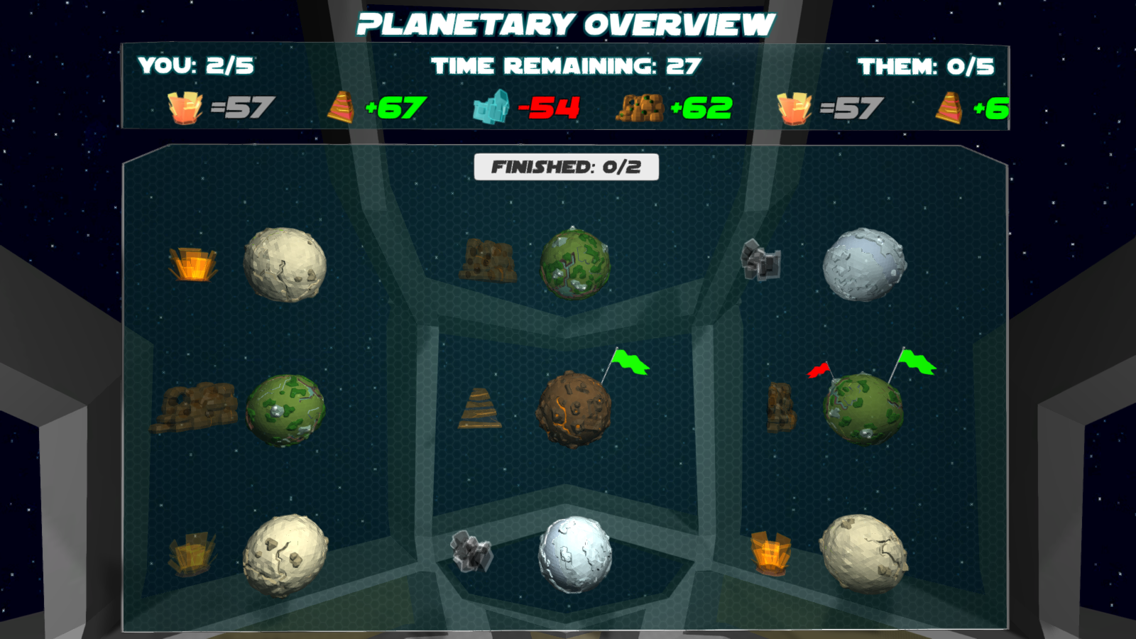 Planetary Overview with 2 planets owned