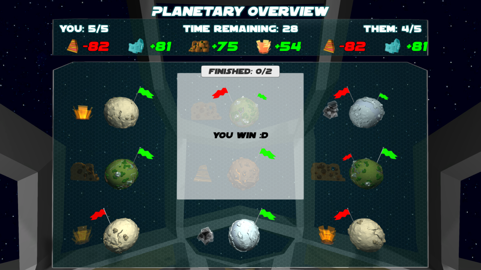 Planetary Overview - Player Wins