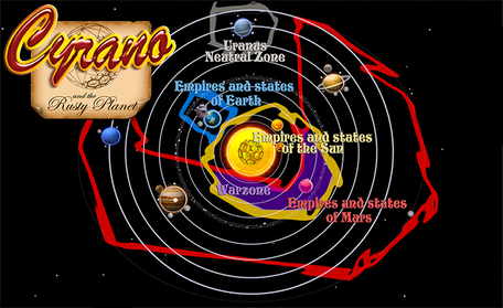 The Aether Map (Solar System) in 1649