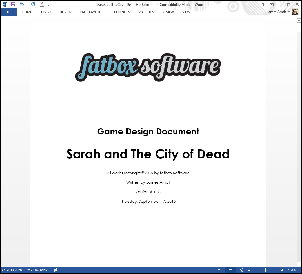 Game Design Document Image Sarah And The City Of Dead Indie DB - Gdd game design document