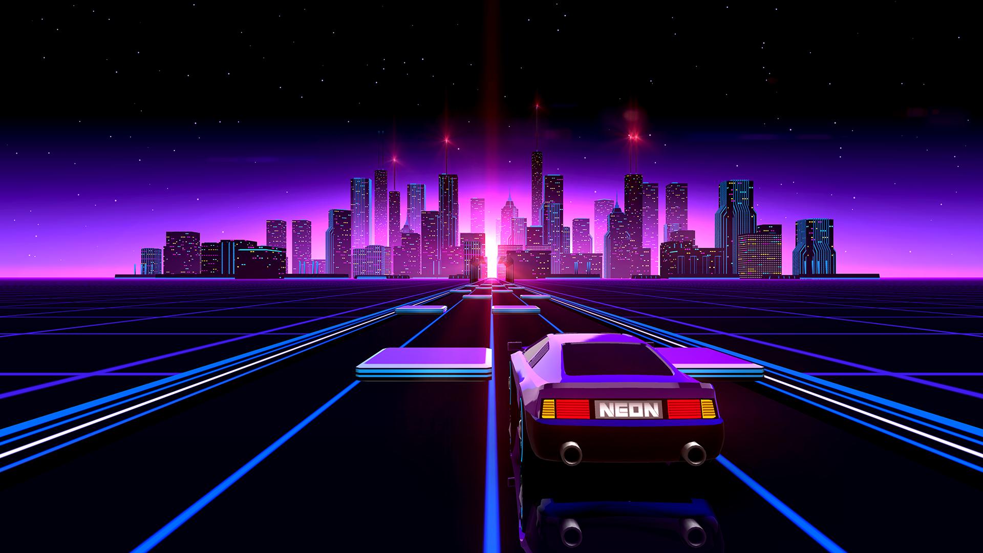 Neon Drive City Image Indie Db
