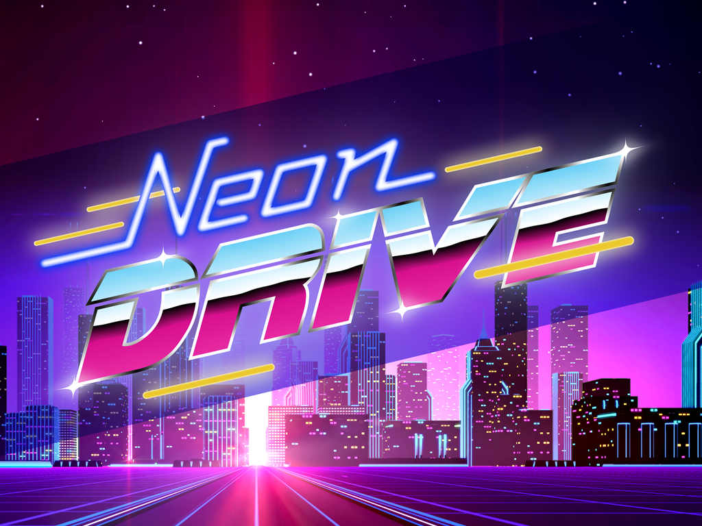Neon Drive 80s Style Arcade Game Ios Ipad Indie Db