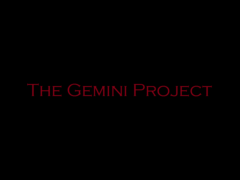 the gemini project We will break over summer and return in the fall keep an eye on our blog for the 2012-2013 schedule.