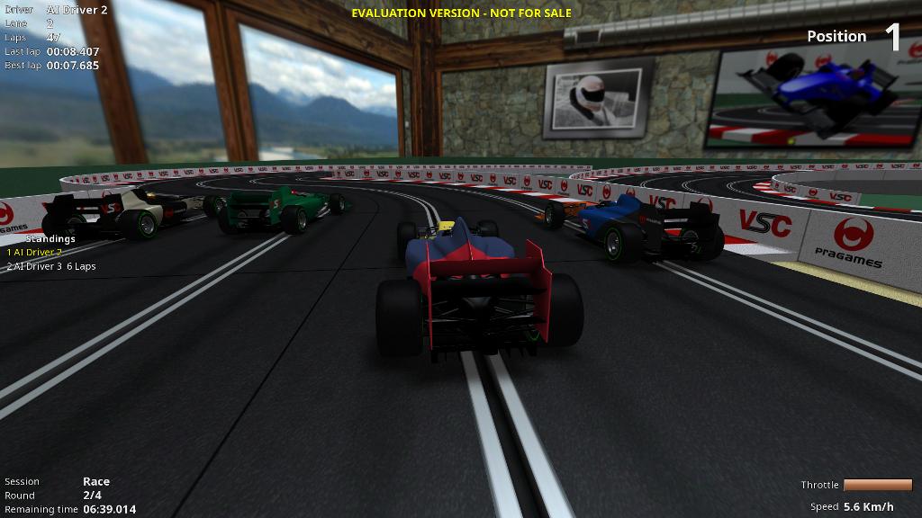 Car camera rear image - Virtual SlotCars - Indie DB