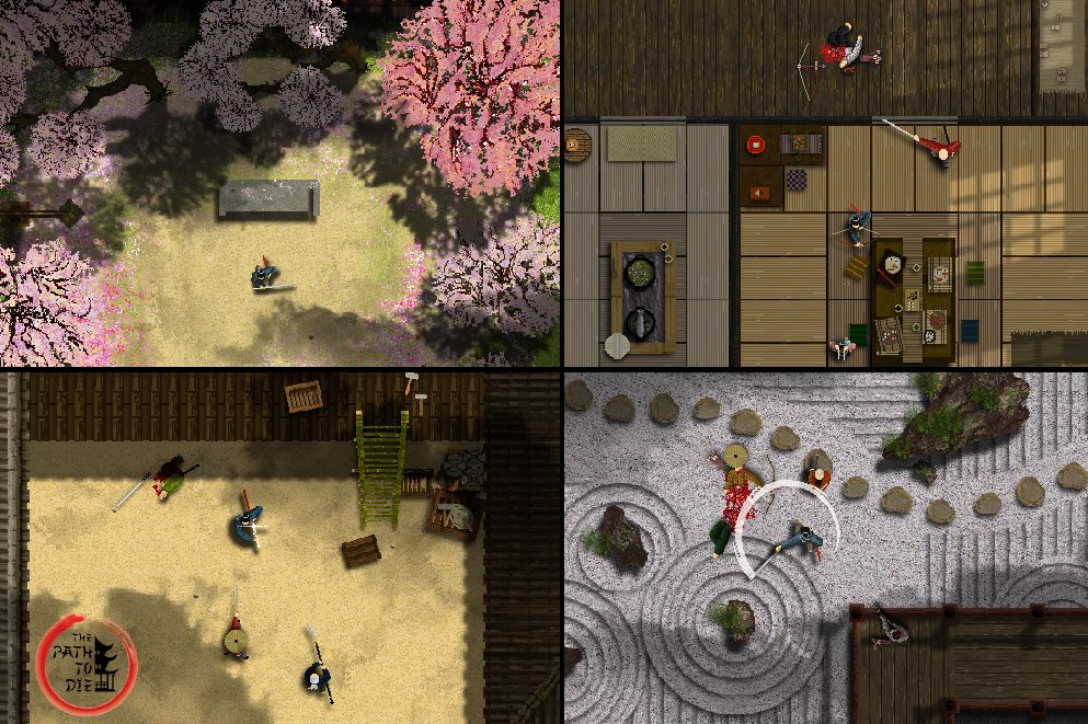 The Path To Die - Hotline Japan, top-down feudal samurai action
